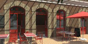 Façade restaurant 3D vendée