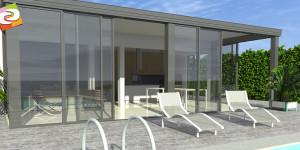 graphisme 3d veranda piscine vendée