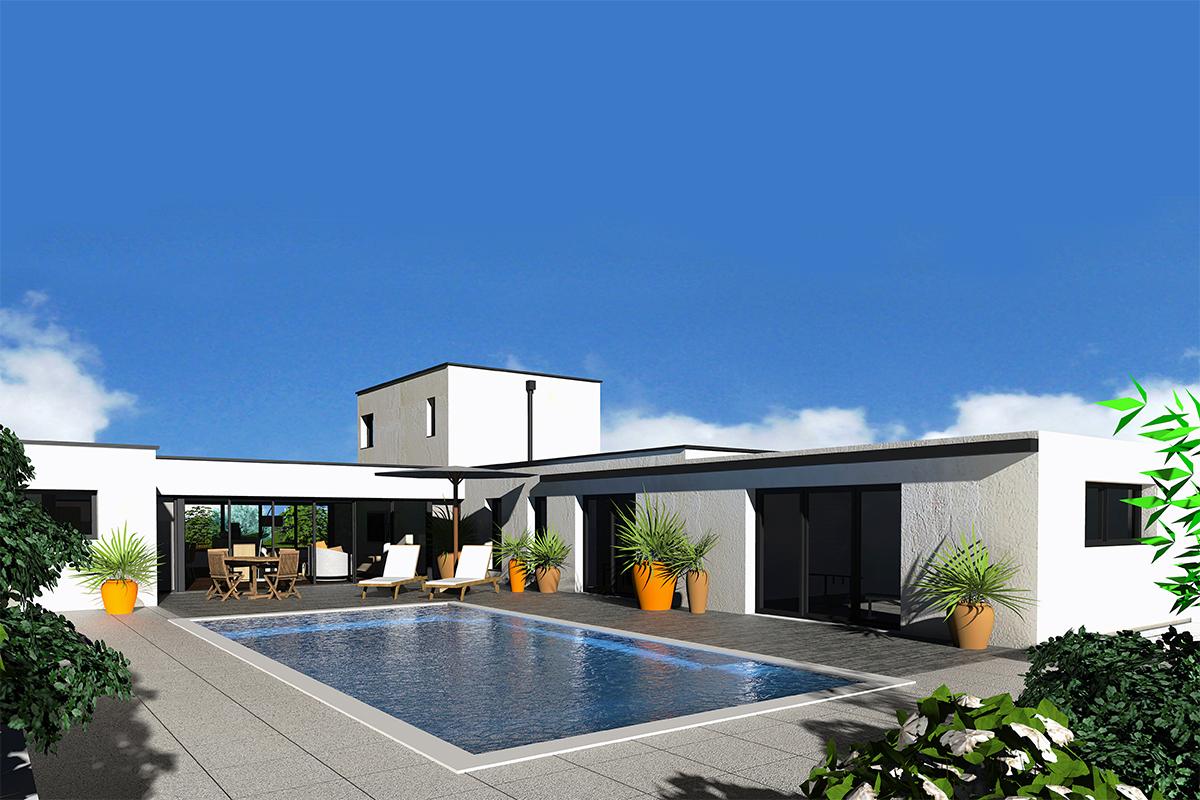 Dessin 3d maison maison moderne for Dessin 3d maison