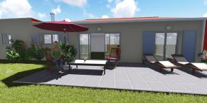 image 3D pavillon maison lotissement vendee