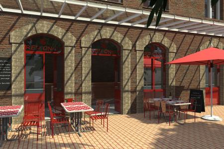Projet restaurant 3D la roche sur Yon