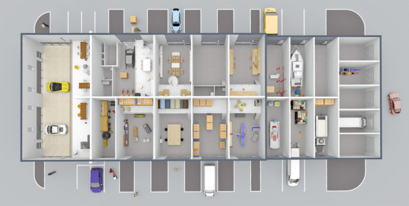 Plan de masse 3D tertiaire
